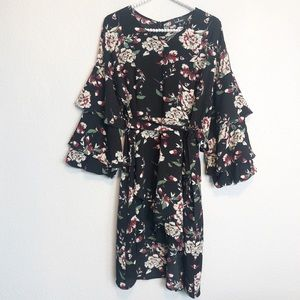 Lulus High Low Ruffled Flounce Dress sz XL